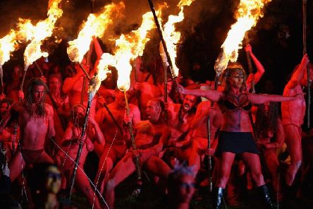 Performers take part in the annual Beltane Fire Festival (Photo: Getty Images)