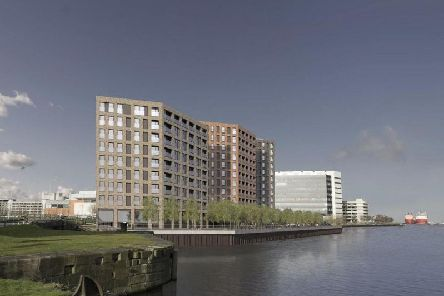 A visualisation of the proposed new tower blocks for Leith.
