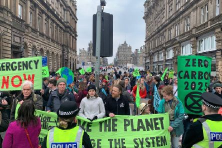 Extinction Rebellion protesters at the last climate change protest on Edinburgh's North Bridge. Pic: Extinction Rebellion Scotland.