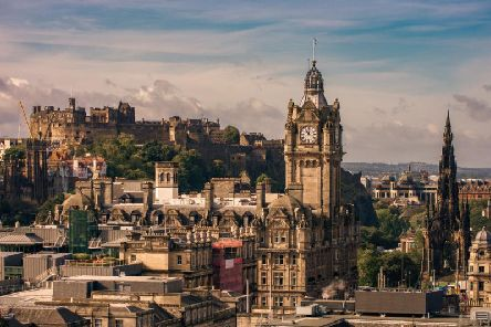 Conditions in Edinburgh should stay largely dry over the weekend but thundery showers could arrive by the middle of next week. Pic: Mikemike10/Shutterstock