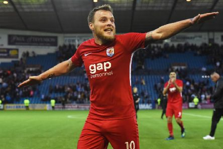 Jamie Insall celebrates as Connah's Quay Nomads knock Kilmarnock out of Europe