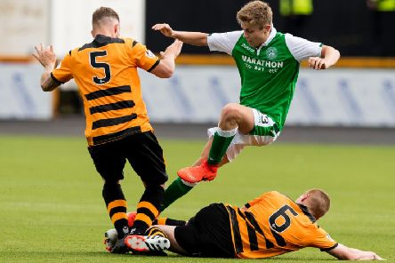 Fraser Murray - who scored the last time the two sides met - in action against Alloa at the Indodrill Stadium