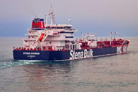 Undated handout photo issued by Stena Bulk of the British oil tanker Stena Impero which is believed to have been captured in Iranian waters whilst en route to Saudi Arabia. Picture: PA
