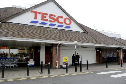 A Tesco shop.