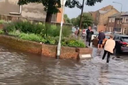 Musselburgh was hit by bad flooding at the weekend.