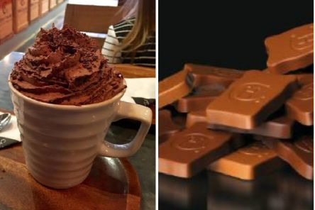 Chocolate from Hotel Chocolat/ Hot chocolate from Hotel Chocolat. Pic: Scott Gibson