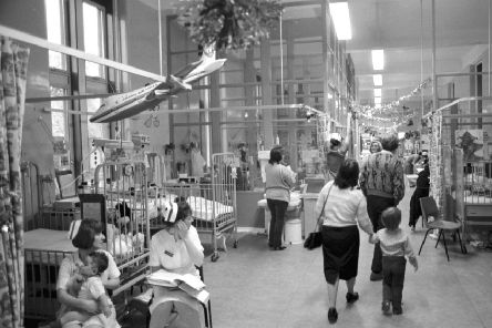 A busy ward at the Sick Kids in 1989. Much has changed in the treatment of children since then