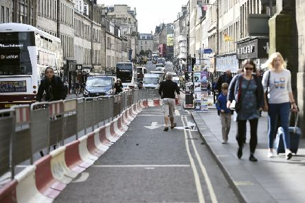 South Bridge is narrowed for greater pedestrian access. Picture: Lisa Ferguson