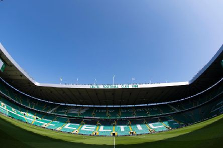 Hearts are in action at a sun-kissed Celtic Park today.