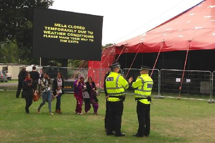 High winds have forced the temporary closure of the Edinburgh Mela. Picture: Jon Savage