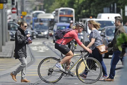A mere 7 per cent use a bicycle for their journey to work.