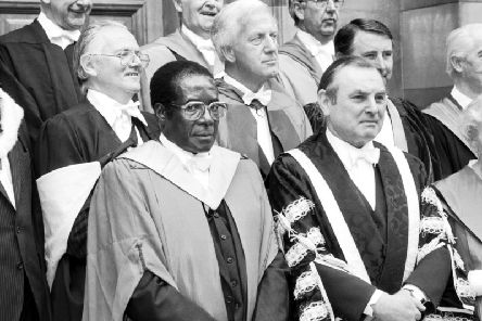 Robert Mugabe, the former president of Zimbabwe, received an honorary law degree from Edinburgh University in 1984. PIC: TSPL.