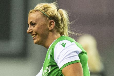 Siobhan Hunter struck twice for Hibs, taking her tally to eight in the past four games