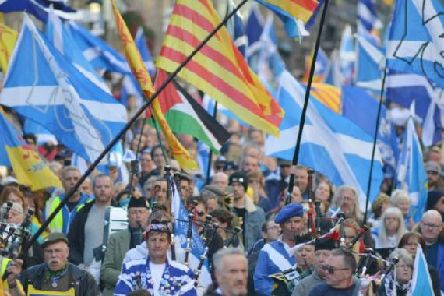 AUOB have organised several large-scale marches in favour of independence. Picture: Neil Hanna