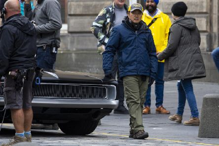 The blockbuster movie is being filmed in the Capital for four weeks.