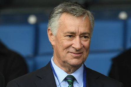 Hibs' multi-millionaire owner Ron Gordon has attended the past three matches. Pic: SNS