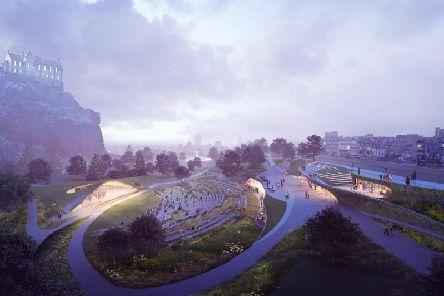 The new-look events arena in West Princes Street Gardens would replace the existing Ross Bandstand.