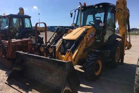 The top selling item of the sale, a 2014 JCB 3CX excavator which sold for 36,500