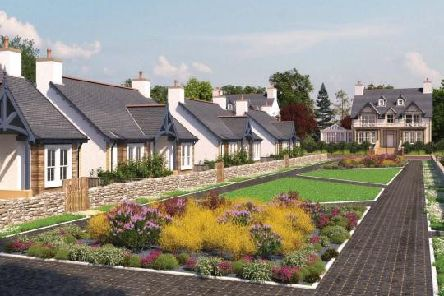An artist's impression of the new development at Menie