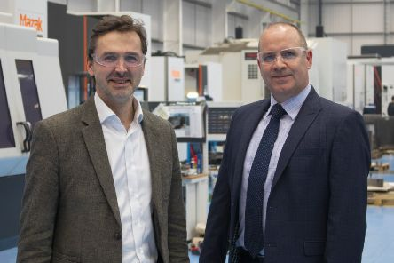 Pryme Group CEO Angus Gray with SengS managing director David Benison