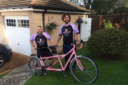 Pictured are Paul and Thom Sherrington, who will be raising money for Kayleigh's Wee Stars.