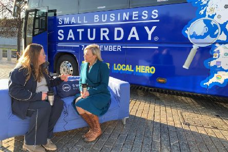 Gillian Martin MSP with the Small Business Saturday Tour Team