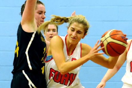 Pic by Alan Murray; 13/10/2018; Sports Complex, Abbots Road; Falkirk Fury Snr Women v Glasgow University; '''Falkirk Fury Senior Women v Glasgow University Women's Basketball Club