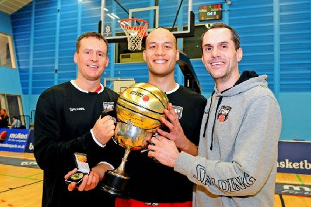 Captain Keith Bunyan, final MVP Adam Hammerschmidt and Fury veteran Greg Foussas. Picture Michael Gillen.
