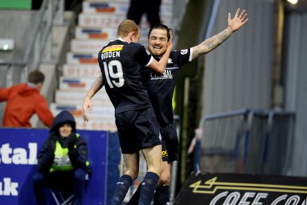 Paul paton hit the net the last time Falkirk and Alloa met. Picture Michael Gillen.
