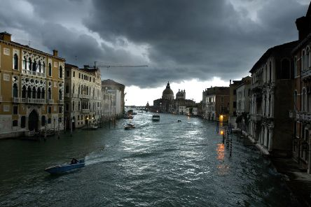 The Grand Canal in the authentic Venice.