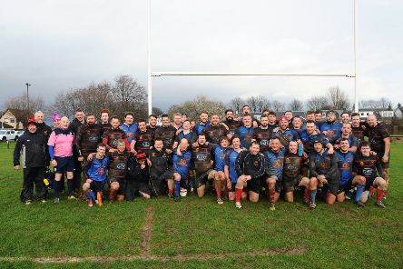 Grangemouth welcomed Llandybie for the Alban Jenkins Shield. Pictures: Michael Gillen,