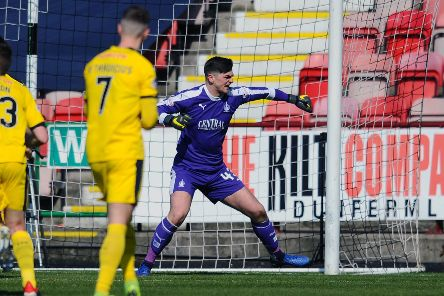 Harry Burgoyne was in top form and thanked the fans and everyone else who helped the Bairns on Saturday. Pictures Michael Gillen.