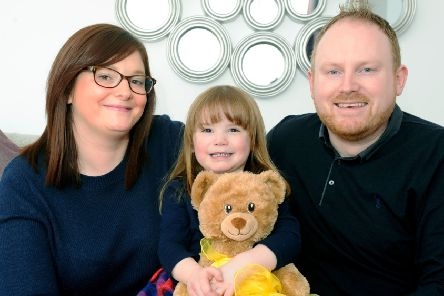 Redding's brave heart tot Lucy and her family and friends raise over £20,000 for hospital charity
