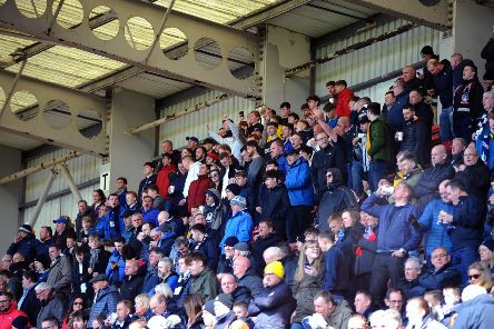 Falkirk fans have given some brilliant backing to the team. Picture Michael Gillen.