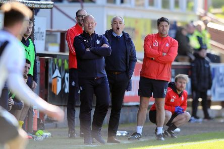Darren Taylor and Ray McKinnon will be looking at 'light' trainign to keep the squad fit for the weekend. Picture Michael Gillen.