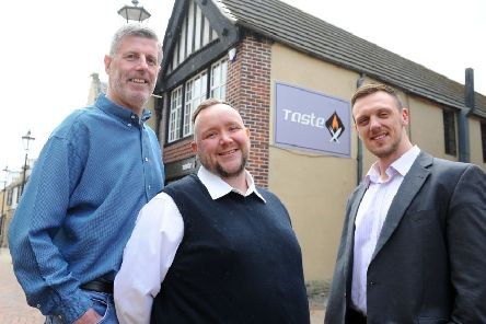 Taste directors Mike Cruickshank (left) and Kyle Murray (right), along with with chef Stephen Johnston, plan to open the restaurant-bar in a matter of weeks