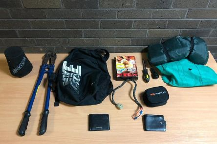Police Scotland shared an image of items recovered after a number of thefts in the Upper Braes