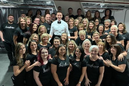 Three Falkirk women share the stage with Hugh Jackman