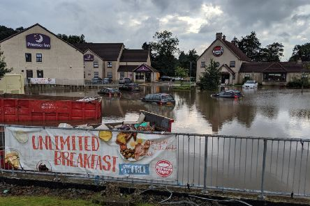 Falkirk district looks set to be hit with more heavy downpours following flooding in the area last weekend. Picture: John Stewart.