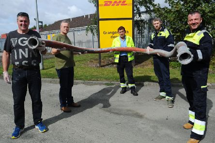 Some of the DHL Grangemouth tanker drivers who are climbing Ben Nevis later this month.