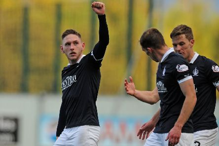 Declan McManus salutes the fans after firing in the fourth (picture: Michael Gillen)