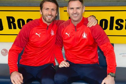 The duo will link up in the dugout for Saturday's match at Linlithgow and until a permanent decision is made. Pictures: Ian Sneddon/Falkirk FC