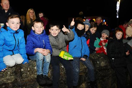 Airth Christmas lights switch on, Friday, December 6. Picture by Michael Gillen.