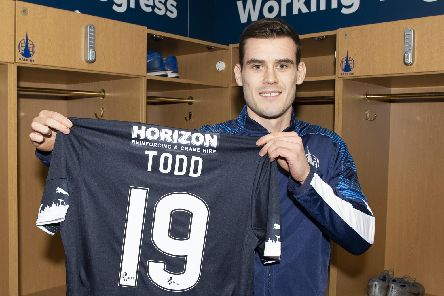 New Falkirk signing Josh Todd (Photo courtesy of Ian Sneddon)