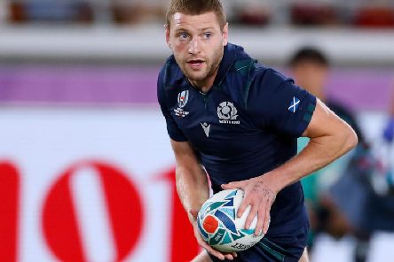 Finn Russell in action at the 2019 Rugby World Cup in Japan
