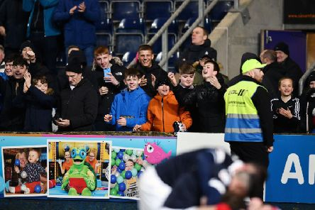 Falkirk had their fans roaring again - and the psoitive social media comments reflected the mood. Picture: Michael Gillen.