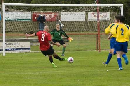 Sergio Alvarez opens the scoring for Tayport.