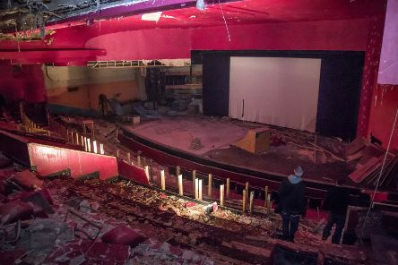 The inside of the theatre. Pics by David Clark