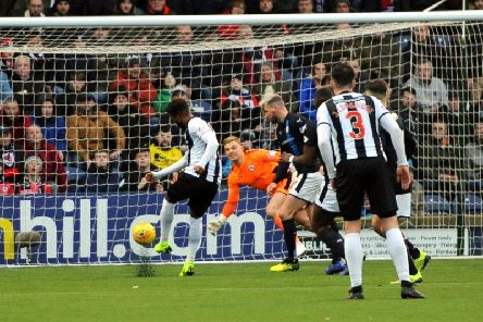 Robbie Thomson pulls off a wonder save against Dunfermline in the Scottish Cup last month. Pic: Fife Photo Agency