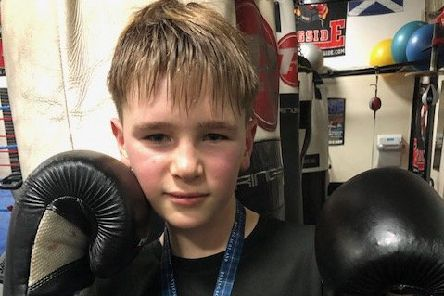 Glenrothes boxing club Michael Millar (13) wins Eastern District Championship at 38kgs category
